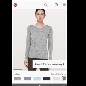 NWT LULULEMON Swiftly Tech LS Crew